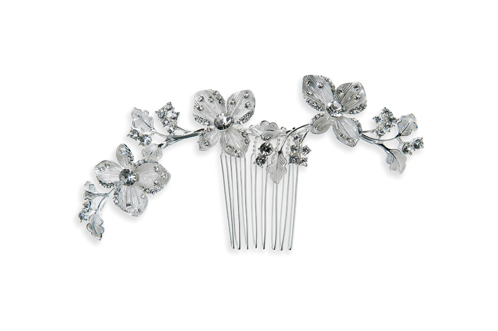 Peony hair comb by Ivory and Co.